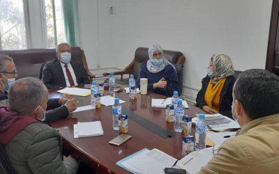 Réunion de travail a eu lieu au niveau de l'institut des sciences vétérinaires de Blida avec le recteur de l'université Blida1, Professeur BEZZINA Med.