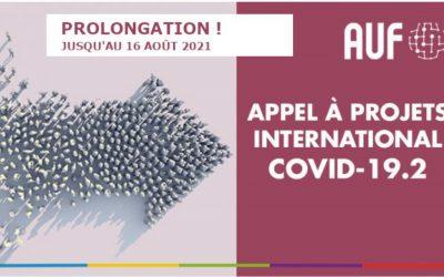 Appel à projets international AUF COVID-19.2